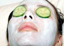 ansigtsbehandling og agurker