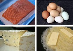 Især fed mad / fede fødevarer indeholder D-vitamin