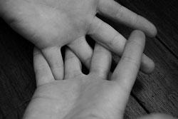 Kolde fingre hos et menneske