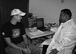 Et sundhedstjek hos en behandler