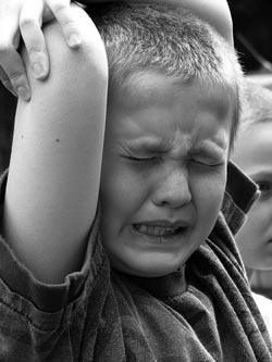 Vokseværk hos en dreng