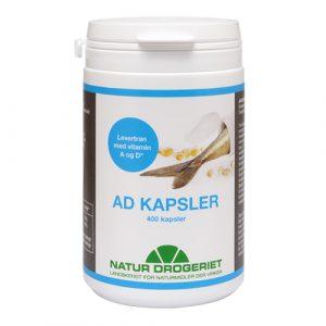 AD Kapsler, levertran m. A og D-vitamin 400kap
