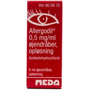 Allergodil Øjendråber - 0.05 % - 6 ml
