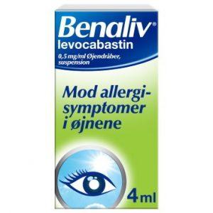 Benaliv 0,5 mg/ml 4 ml Øjendråber, suspension