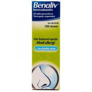 Benaliv Næsespray - 50 mikg/dosis - 150 Doseringer
