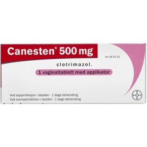 Canesten 500 mg 1 stk Vaginaltabletter