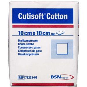 Cutisoft Cotton Kompres 10 x 10 cm Medicinsk udstyr 100 stk