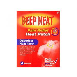 Deep Heat Varmeplaster - 4 Plastre