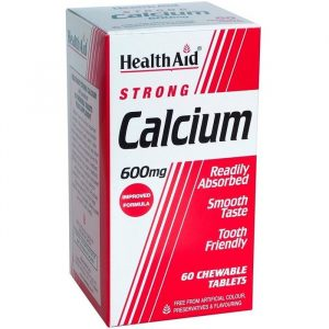 HealthAid Calcium Tyggetabletter - 600 mg - 60 Tabletter
