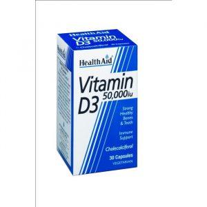 HealthAid Vitamin D3 - 1250 mcg - 30 Kapsler