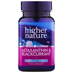 Higher Nature Astaxanthin & Solbær - 90 Kapsler