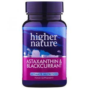 Higher Nature Astaxanthin & Solbær - 90 Kapsler