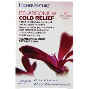 Higher Nature Pelargonium Cold Relief - 21 Tabletter