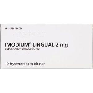 Imodium Lingual Frysetablet 2MG (10 stk)