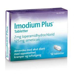 Imodium Plus Tabletter 2+125mg (12 stk)