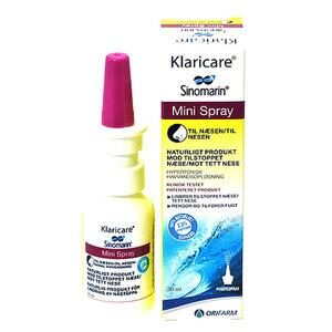 Klaricare Mini Næsespray - 30 ml
