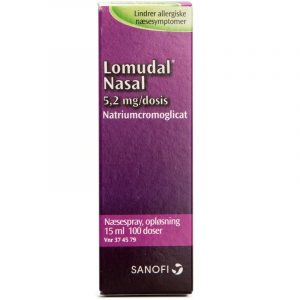 Lomudal Næsespray - 5.2 mg - 15 ml