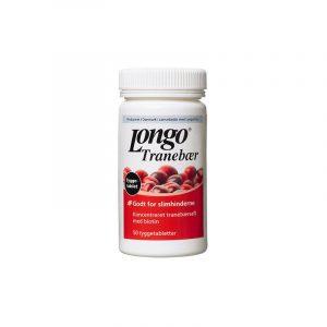 Longo Tranebær Tyggetabletter - 50 Tabletter