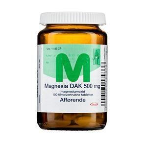 Magnesia 500mg - 100 stk