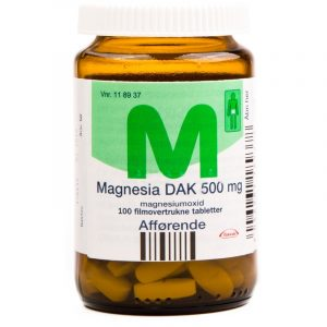 Magnesia DAK - 500 mg - 100 Tabletter