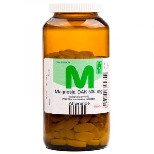 Magnesia DAK - 500 mg - 250 Tabletter