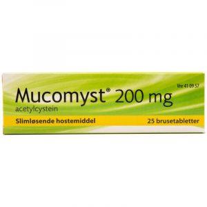Mucomyst - 200 mg - 25 Brusetabletter
