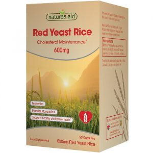 Natures Aid Røde Gærris - 600 mg - 90 Kapsler