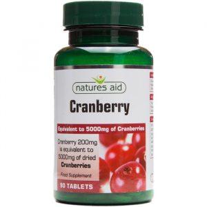 Natures Aid Tranebær - 5000 mg - 90 Kapsler