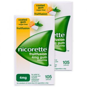 Nicorette Tyggegummi FruitFusion / Fruitmint - 4 mg - 2x105 Stykker