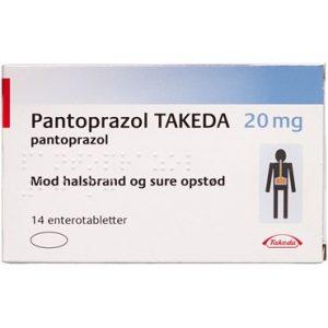 "Pantoprazol ""TAKEDA"" 20 mg (Håndkøb, apoteksforbeholdt) 14 stk Enterotabletter"
