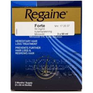 Regaine Forte Mod Hårtab - 5 % - 3 x 60ml