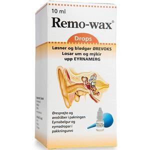 Remo-wax øredråber med sprøjte - 10ml