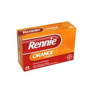 Rennie Køb Rennie Ice tabletter 48 stk mod halsbra m/appelsinsmag - 500 mg - 48 Tabletter