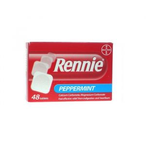 Rennie Pebermynte - 680/80 mg - 48 Tabletter