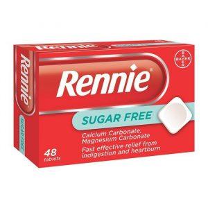 Rennie Sukkerfri Tabletter - 400 mg - 48 Tabletter