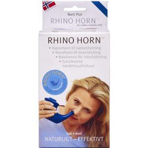 Rihno Horn Næsehorn Blå 1 stk