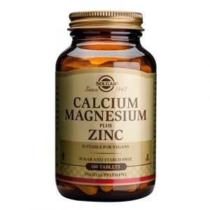 Solgar Calcium, Magnesium plus Zink (100 tabletter)