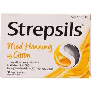 Strepsils Honning & Citron - 36 Tabletter