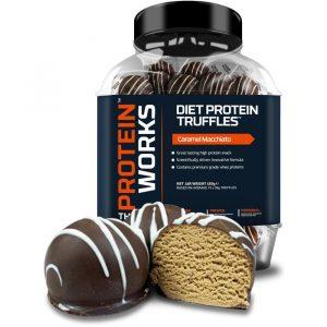 The Protein Works Diet Protein Truffles Caramel Macciato - 15 Stykker