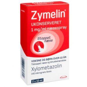 Zymelin Ukonserveret Næsespray 1 mg (2 x 10 ml)